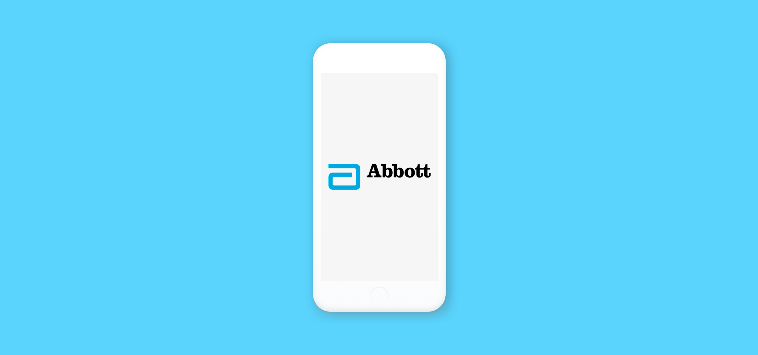 Abbott logo on mobile screen
